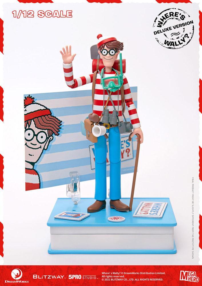 Where's Wally? Mega Hero Action Figure 1/12 Wally DX Version 20 cm