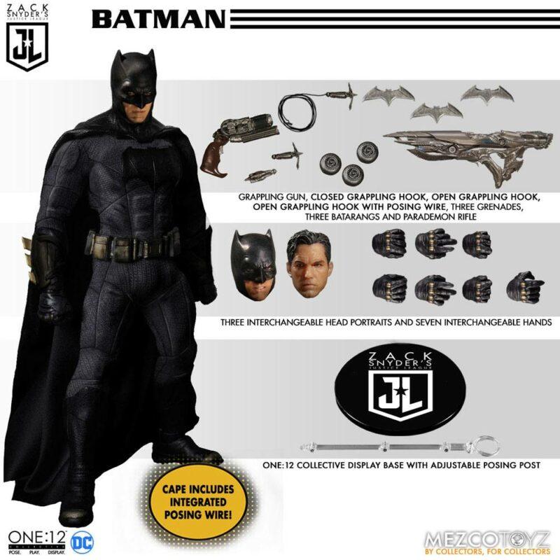 Zack Snyder's Justice League Action Figures 1/12 Deluxe Steel Box Set 15 - 17 cm