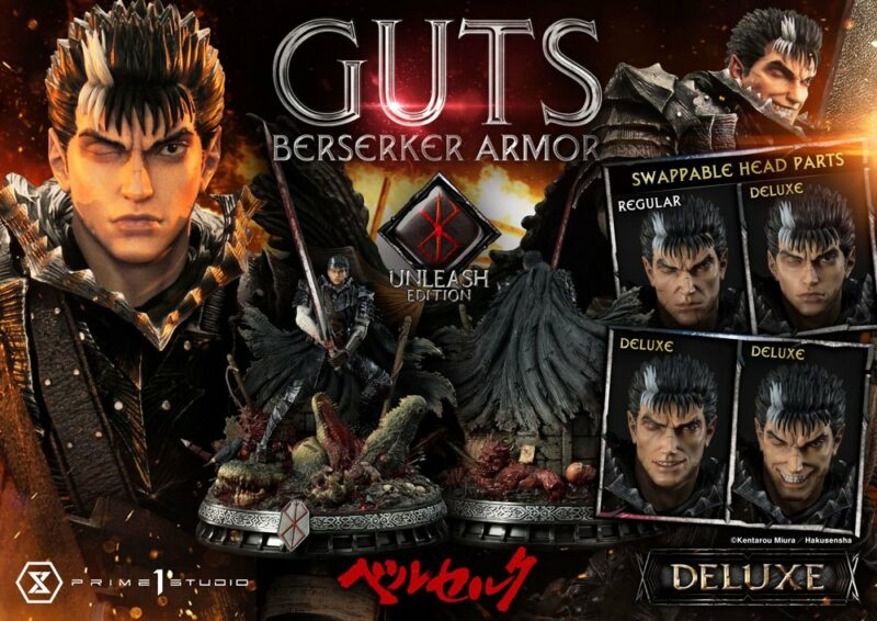 Berserk Statue 1/4 Guts Berserker Armor Unleash Edition Deluxe Version 91 cm