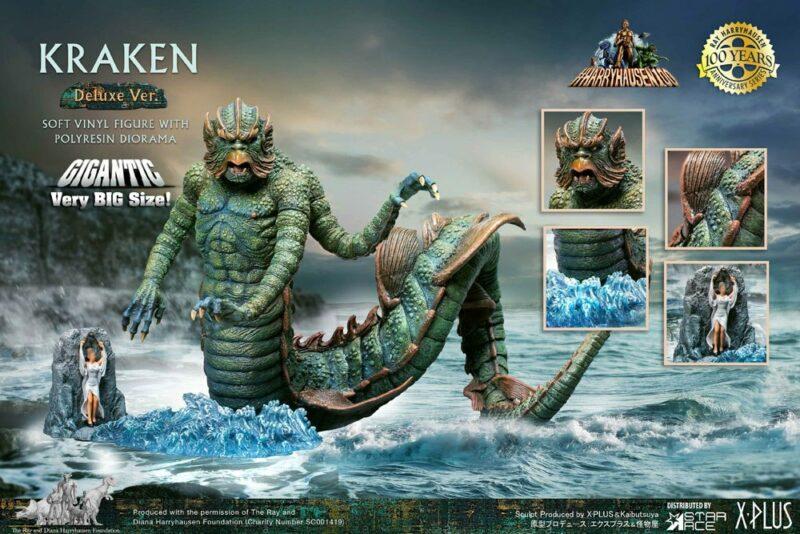 Clash of the Titans Gigantic Soft Vinyl Statue Ray Harryhausens Kraken Deluxe Ver. 35 cm