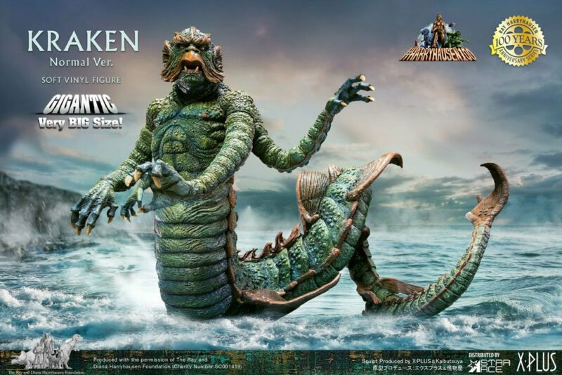 Clash of the Titans Gigantic Soft Vinyl Statue Ray Harryhausens Kraken 35 cm