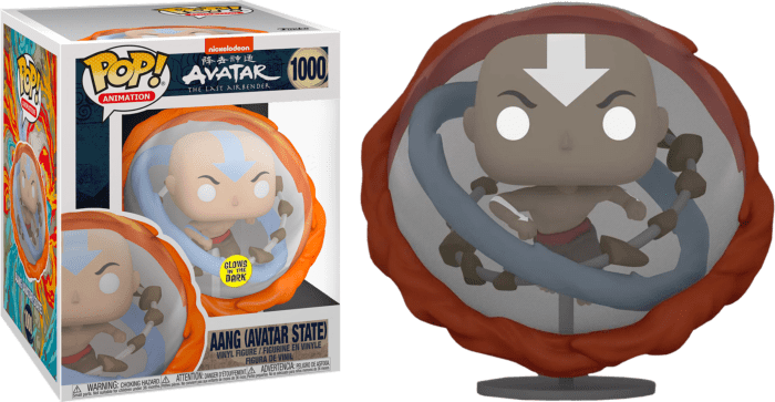 Avatar The Last Airbender Oversized POP! Animation Vinyl Figure Aang Avatar State Glow in the Dark Limited 15 cm