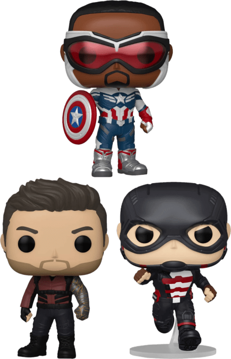 The Falcon and the Winter Soldier - In Sam We Trust Pop! Vinyl Bundle (Set of 3)