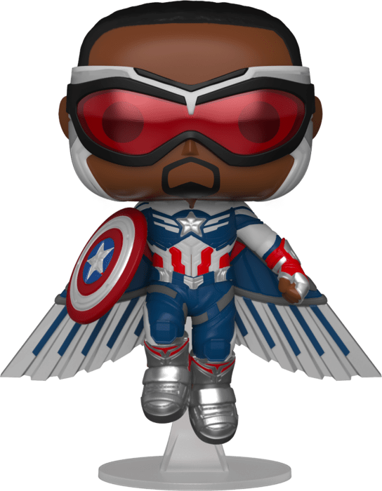 The Falcon and the Winter Soldier POP! Vinyl Figure Captain America Flying Limited 9 cm