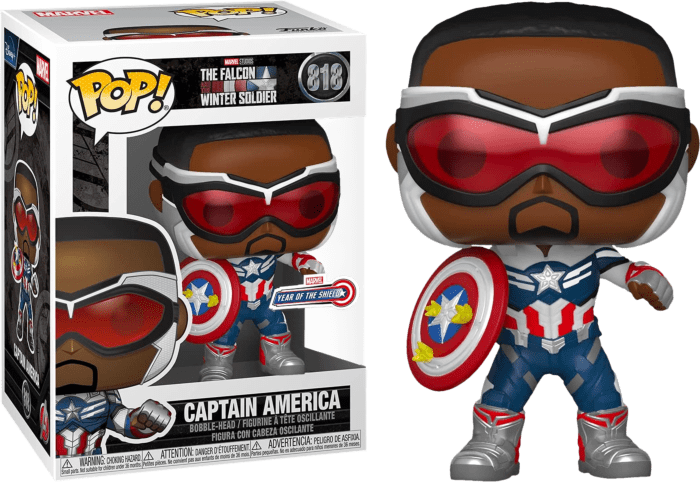 The Falcon and the Winter Soldier POP! Vinyl Figure Captain America Year Of the Shield Limited 9 cm