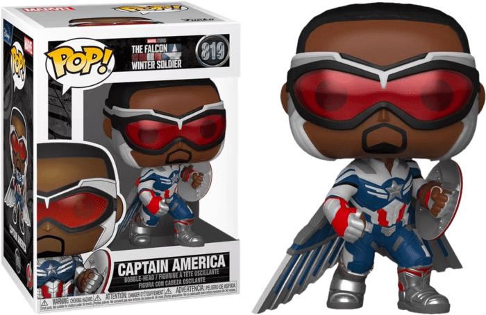 The Falcon and the Winter Soldier POP! Vinyl Figure Captain America with Wings Limited 9 cm