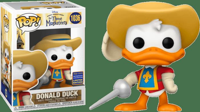 Mickey, Donald, Goofy: The Three Musketeers POP! Disney Vinyl Figure Donald Duck 9 cm (con bollino Wondrous Convention Exclusive 2021)