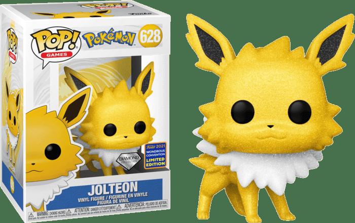 Pokemon POP! Vinyl Figure Jolteon Diamond Glitter 9 cm (con bollino Wondrous Convention Exclusive 2021)