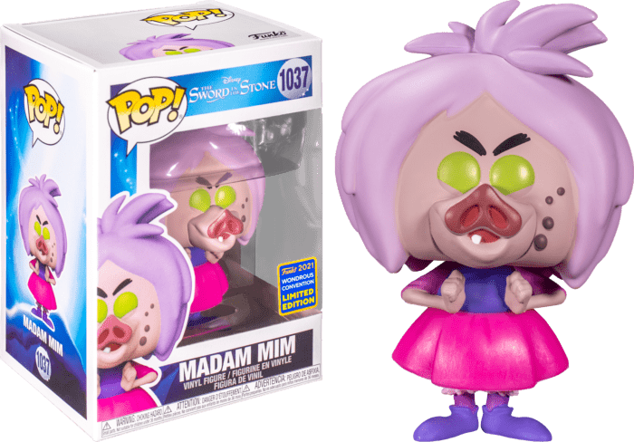 The Sword in the Stone POP! Disney Vinyl Figure Madam Mim 9 cm (con bollino Wondrous Convention Exclusive 2021)