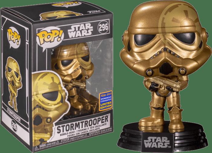 Star Wars POP! Vinyl Figure Stormtrooper Gold 9 cm (con bollino Wondrous Convention Exclusive 2021)