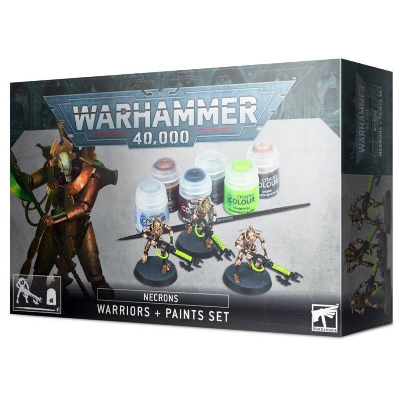 Warhammer 40,000 Necrons: Warriors + Paints Set