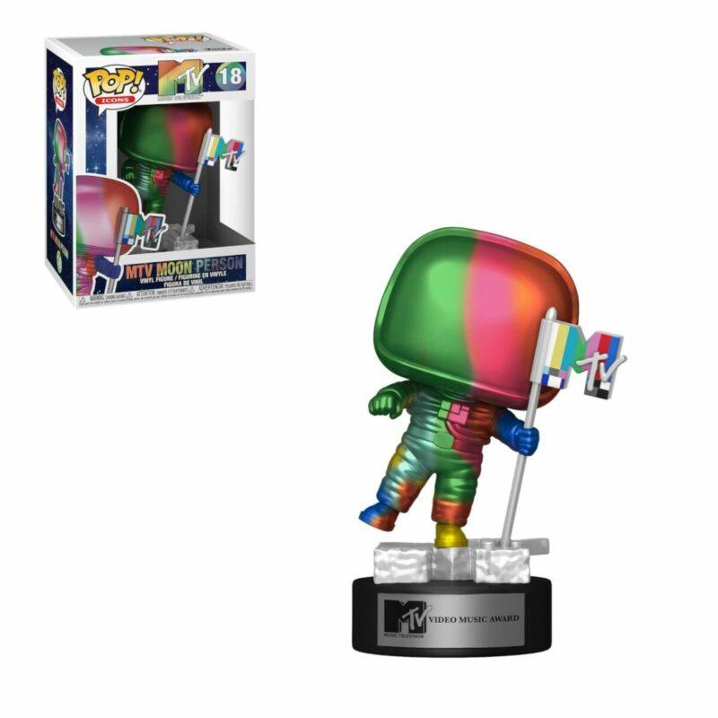 MTV POP! Ad Icons Vinyl Figure Moon Person (Rainbow) 9 cm