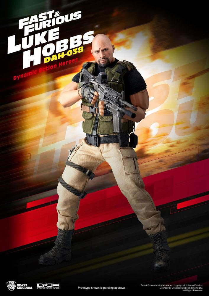 Fast & Furious Dynamic 8ction Heroes Action Figure 1/9 Luke Hobbs 21 cm
