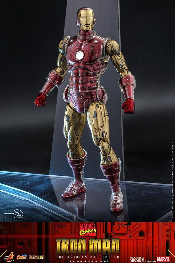 Marvel The Origins Collection Comic Masterpiece Action Figure 1/6 Iron Man 33 cm