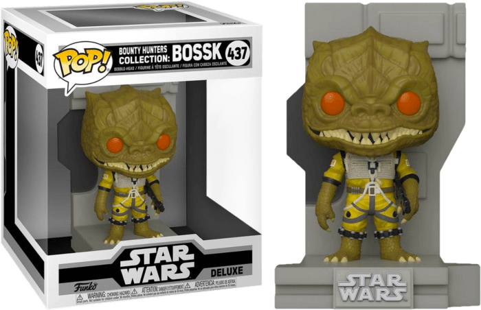 Star Wars Episode V: The Empire Strikes Back POP! Vinyl Figure Bossk Bounty Hunters Diorama Deluxe Limited