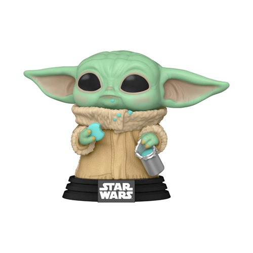 Star Wars: The Mandalorian POP! Star Wars Vinyl Figure Grogu (The Child) with cookie 9 cm