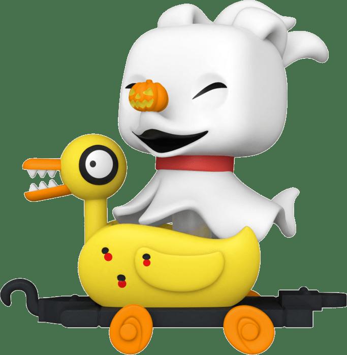 Nightmare before Christmas POP! Disney Train Cart Vinyl Figure Zero in Duck Cart Glow in the Dark Limited 9 cm