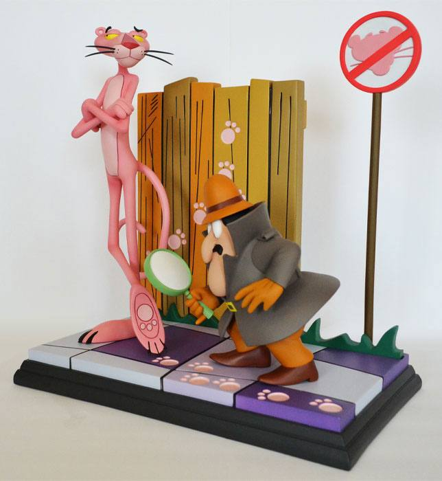The Pink Panther Statue Pink Panther & The Inspector 41 cm