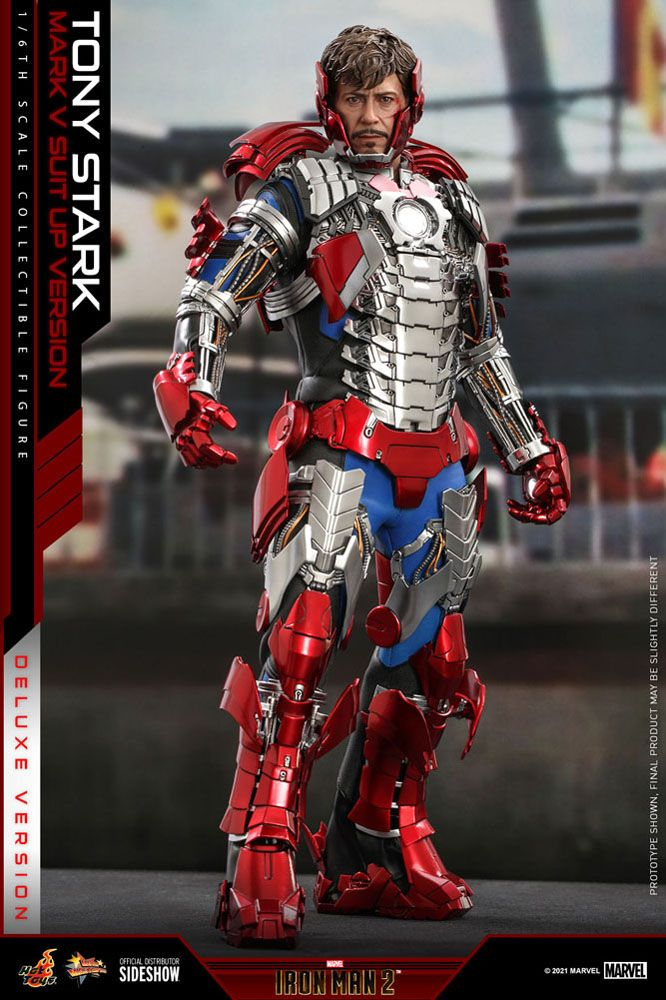 Iron Man 2 Movie Masterpiece Action Figure 1/6 Tony Stark (Mark V Suit Up Version) Deluxe 31 cm
