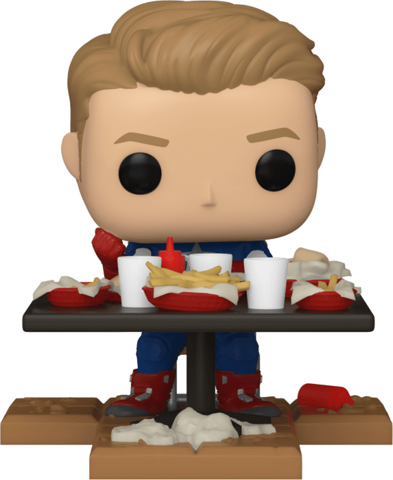 The Avengers POP! Vinyl Figure Captain America Victory Shawarma Diorama Deluxe Limited