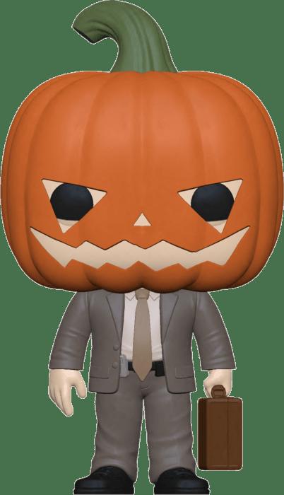 The Office US POP! TV Vinyl Figure Dwight w/Pumpkinhead 9 cm