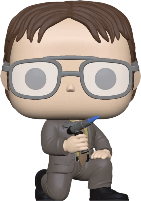 The Office US POP! TV Vinyl Figure Dwight Schrute with Blow Torch Limited 9 cm
