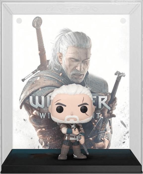 The Witcher 3: Wild Hunt POP! Vinyl Figure Geralt with Games Cover 9 cm