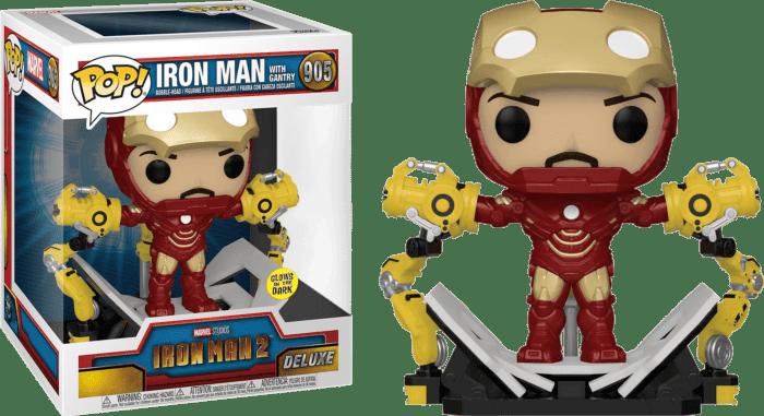 Iron Man 2 POP! Vinyl Figure Iron Man MKIV with Gantry Glow in the Dark Limited