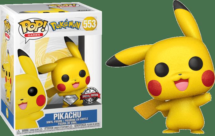 Pokemon POP! Vinyl Figure Pikachu Waving Diamond Glitter Limited 9 cm