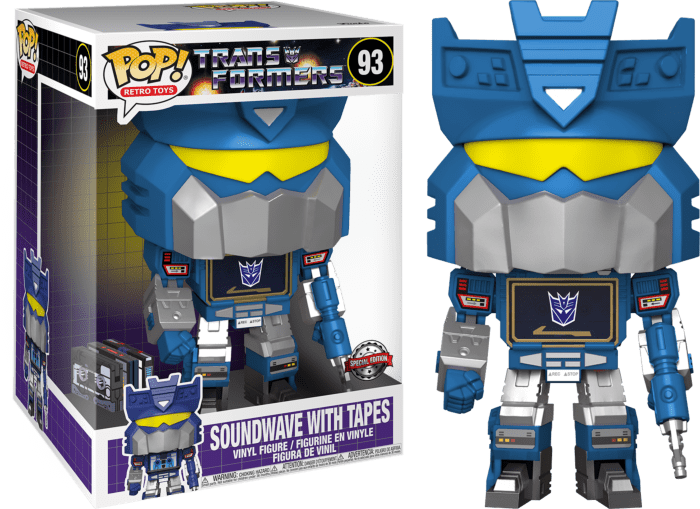 Transformers 1984 POP! Movies Vinyl Figure Soundwave with Tapes Limited 25 cm