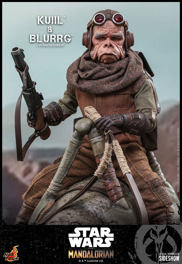 Star Wars The Mandalorian Action Figure 2-Pack 1/6 Kuiil & Blurrg 37 cm
