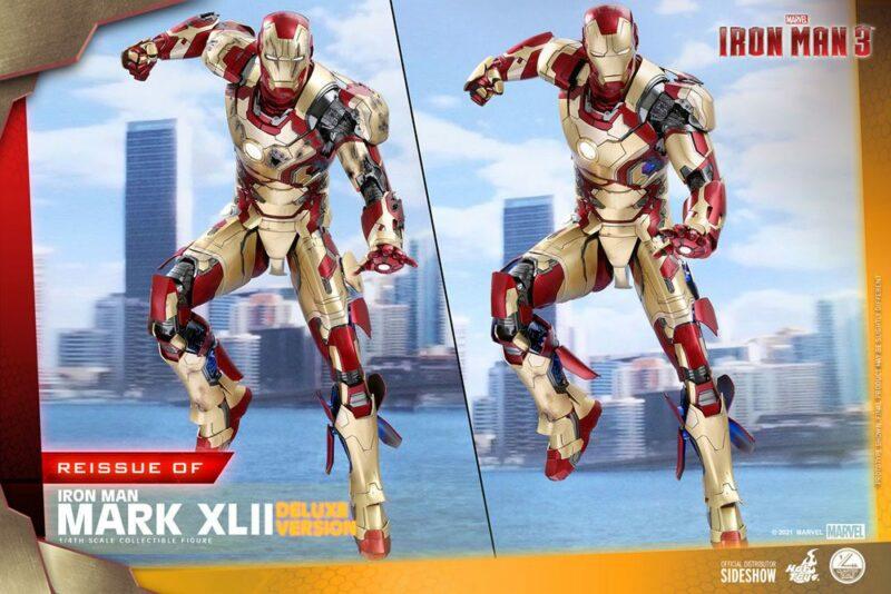 Iron Man 3 Action Figure 1/4 Iron Man Mark XLII Deluxe Ver. 49 cm