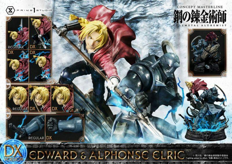 Fullmetal Alchemist Statue 1/6 Edward & Alphonse Elric Deluxe Version 56 cm