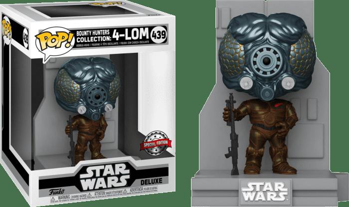 Star Wars Episode V: The Empire Strikes Back POP! Bounty Hunters Deluxe Vinyl Figure 4-Lom Limited