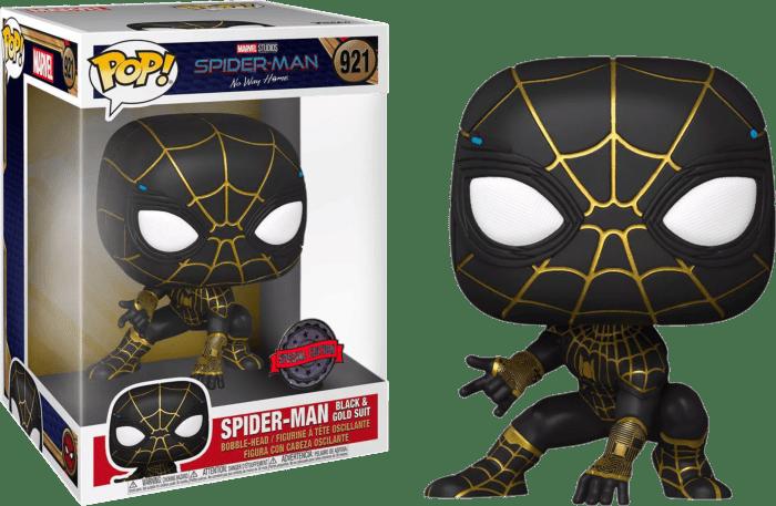 Spider-Man: No Way Home POP! supersized Vinyl Figure Spider-Man in Black & Gold Limited 25 cm