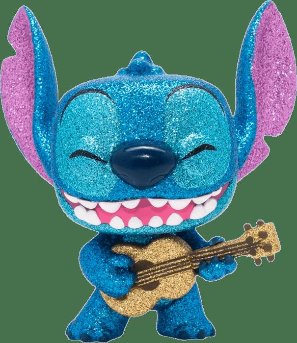 Lilo & Stitch POP! Vinyl Figure Stitch with Ukulele Diamond Glitter Limited 9 cm