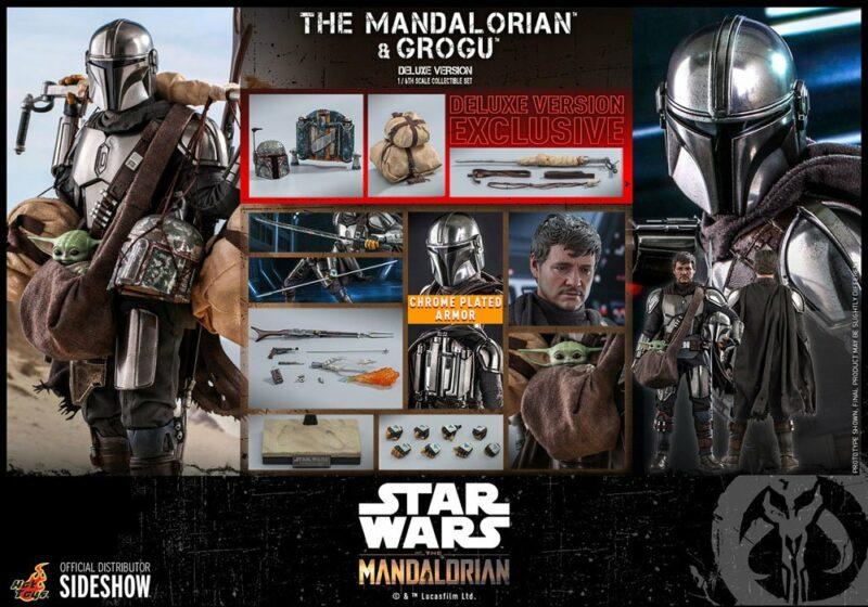 Star Wars The Mandalorian Action Figure 2-Pack 1/6 The Mandalorian & Grogu Deluxe Version 30 cm