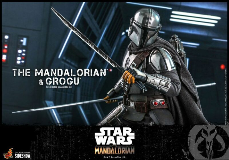 Star Wars The Mandalorian Action Figure 2-Pack 1/6 The Mandalorian & Grogu 30 cm