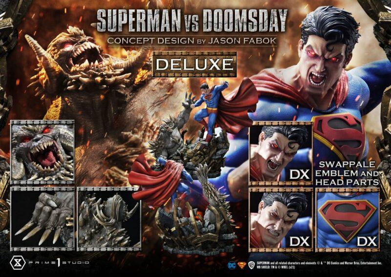 DC Comics Statue 1/3 Superman Vs. Doomsday by Jason Fabok Deluxe Bonus Version 95 cm
