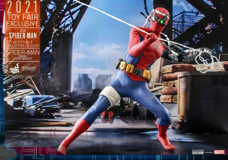 Spider-Man Videogame Masterpiece Action Figure 1/6 Cyborg Spider-Man Suit 2021 Toy Fair Exclusive