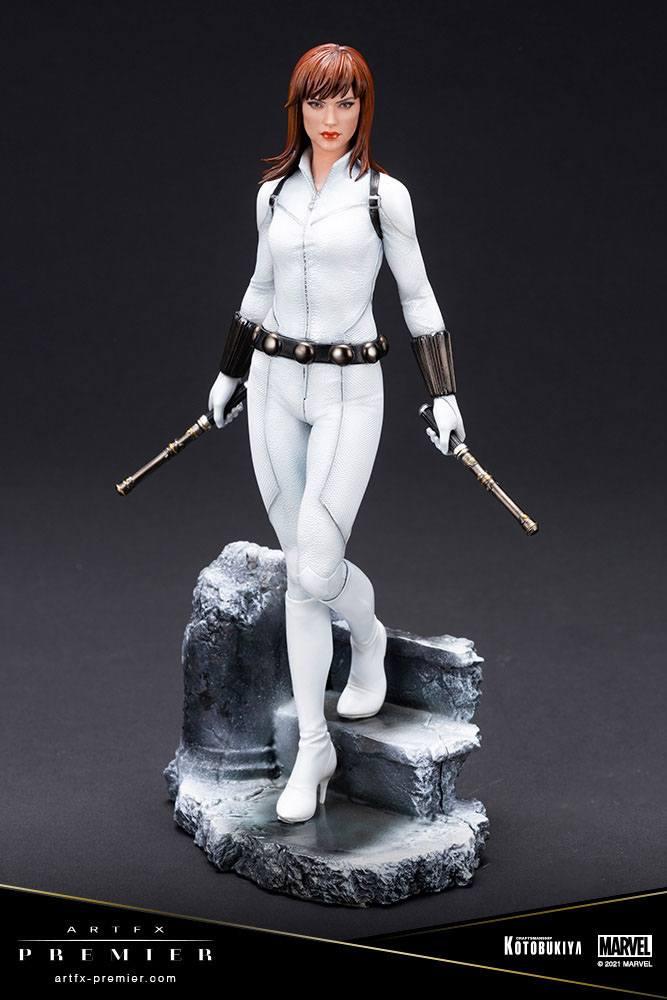 Marvel Universe ARTFX Premier PVC Statue 1/10 Black Widow White Costume Limited Edition 21 cm