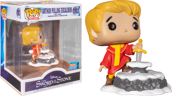 The Sword in the Stone POP! Deluxe Vinyl Figure Arthur pulling Excalibur (2021 Fall Convention Exclusive)