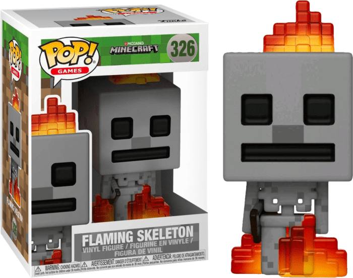 Minecraft POP! Games Vinyl Figure Flaming Skeleton Limited 9 cm