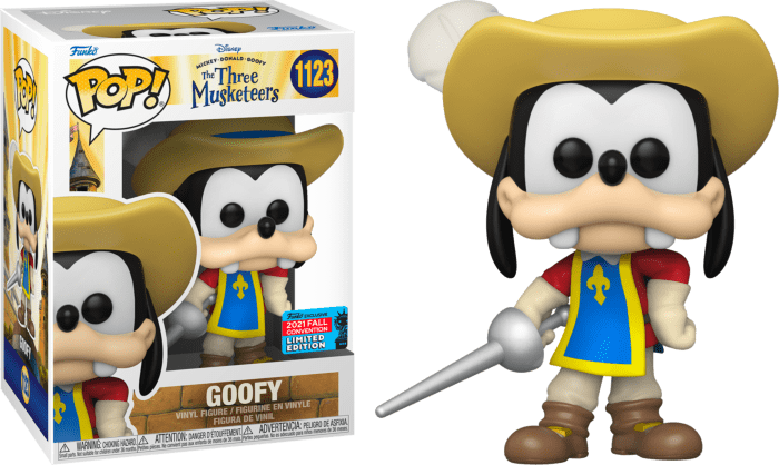 Mickey, Donald, Goofy: The Three Musketeers POP! Vinyl Figure Goofy (2021 Fall Convention Exclusive)