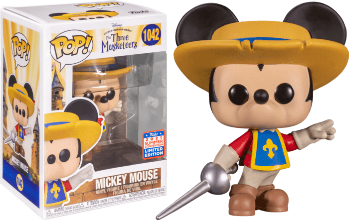 Mickey, Donald, Goofy: The Three Musketeers POP! Disney Vinyl Figure Mickey Mouse 9 cm (con bollino Summer Convention Exclusive 2021)