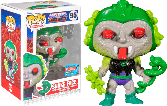 Master of The Universe POP! Vinyl Figure Snake Face (2021 Fall Convention Exclusive)