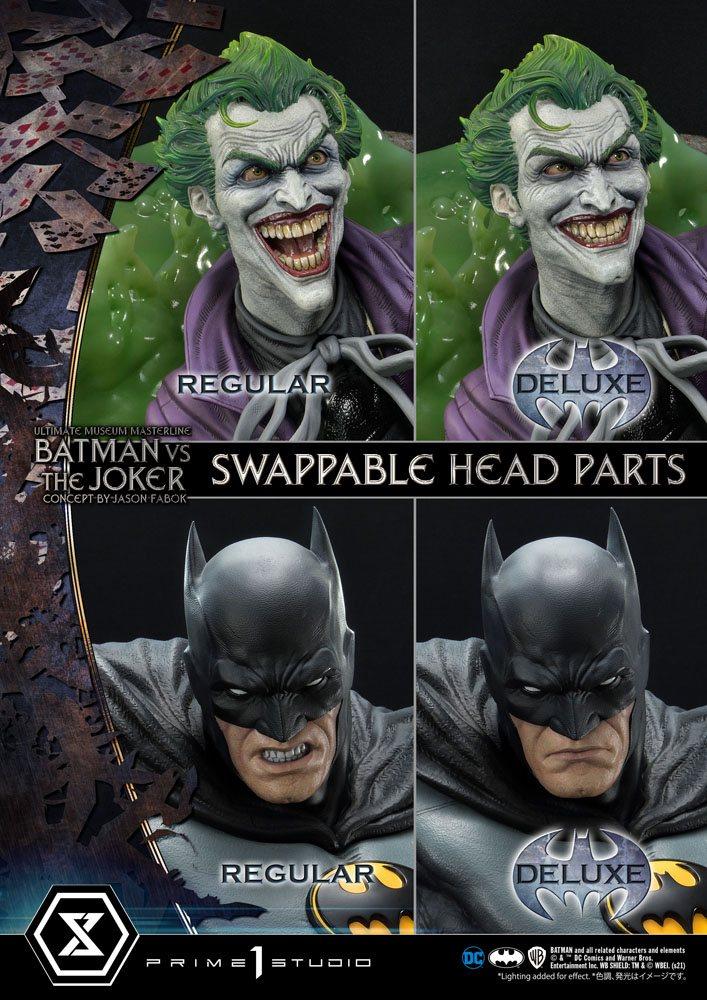 DC Comics Statue 1/3 Batman vs. The Joker by Jason Fabok Deluxe Bonus Version 85 cm